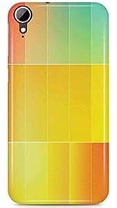 PCM High Quality Printed Designer Polycarbonate Hard Back Cover for HTC Desire 830 - Matte Finish - Color Warranty - 0593