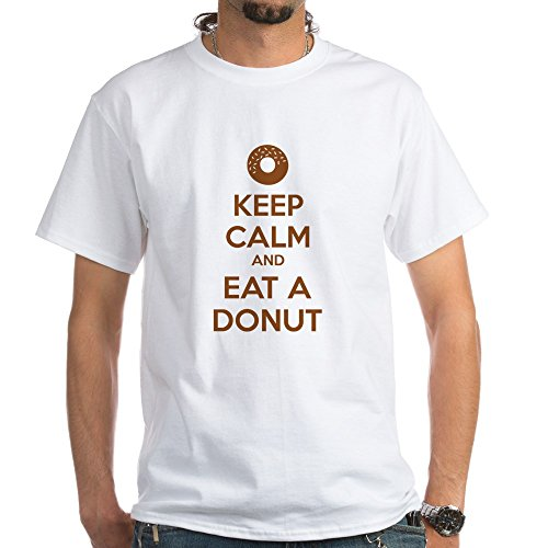 CafePress Keep Calm and Eat A Donut - 100% Cotton T-Shirt