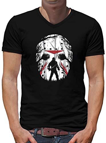 (Jason Friday Night V-Neck T-Shirt Herren S Schwarz)