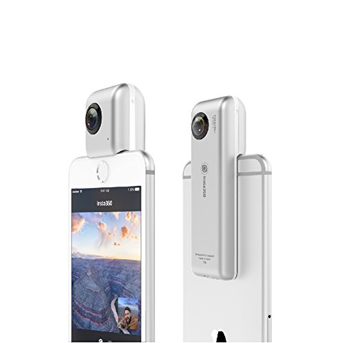 Insta360-Nano-3K-Mini-HD-VR-360-Panormica-Cmara-Doble-210-Gran-Angular-Lente-Ojo-de-Pez-Plata
