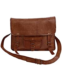Pranjals House Vintage Leather Messenger Bag/ Briefcase/ Laptop Bag For Men And Women