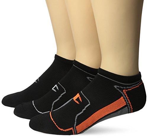 Champion Herren 3-pack Sock (Champion Men's 3 Pack No Show Running Socks, Black Assortments Accents, 6-12)