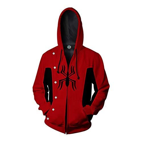 r Hoody, 3D gedruckt Superheld Spider Man Hoodies Tunnelzug, Kühle Lange Hülse Loose Fit Hoodies Jugend Paare Geschenk A-XXXXL ()