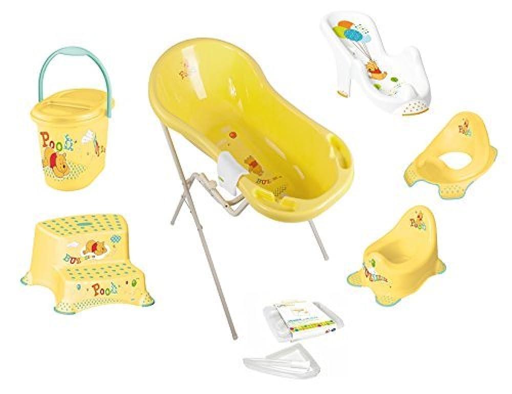 Badewannenständer Babywanne 100 cm Ständer Badewanne XXL  Winnie Pooh weiß