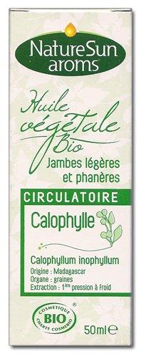 Naturesun aroms - Huile végétale calophylle bio - 50 ml huile végétale - Circulatoire, jambes légère