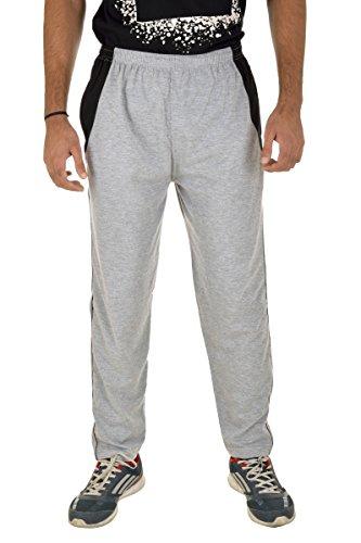 Kuchipoo Men's Pajama Lower Track Pants (KUC-LOW-202--Large, Grey) (Waist 36 to 38)