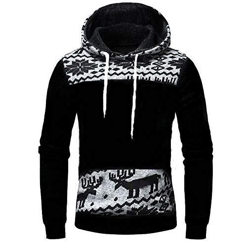LUCKYCAT Herren Bekleidung Herren Luckycat Weihnachtspullover Basic Kapuzenpullover Sweatjacke Pullover Hoodie Sweatshirt Mode 2018