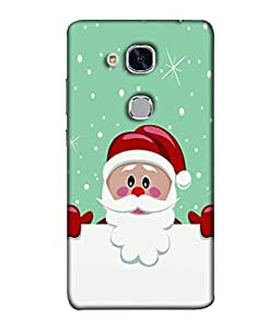PrintVisa Designer Back Case Cover for Huawei Honor 5c :: Huawei Honor 7 Lite :: Huawei Honor 5c GT3 (Stars Dots Snow Flakes Red)