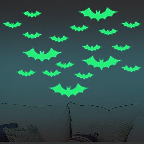 von Clest F & H, Wandaufkleber für Allerheiligen zum Selberaufkleben Glow Bat (Bat-woman-make-up Für Halloween)