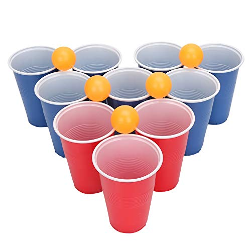 Ktwd Einweg-Plastikbecher 24er Pack Tischtennis Trinken hilft, das Spiel zu de-Zip Kostüm Kinderspiel Spielen (Beer Pong Becher Kostüm)