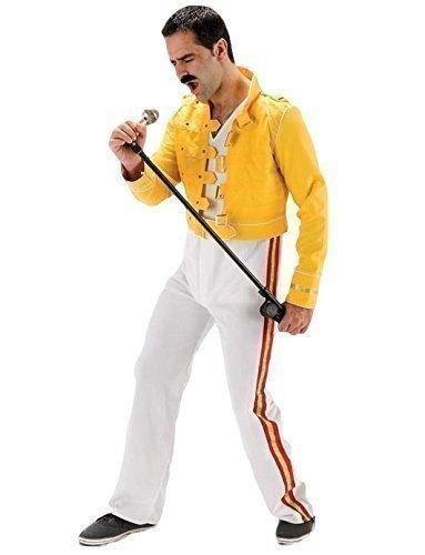 Herren Deluxe 1980s 80er-Jahre-Stil, Motiv Freddie Mercury/Queen Star Kostüm (Mercury Freddie Outfit)