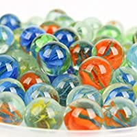 HI-QUALITY RANDOM COLORED MARBLES TRADITIONAL PARTY GAMES STRONG TEMPTED GLASS