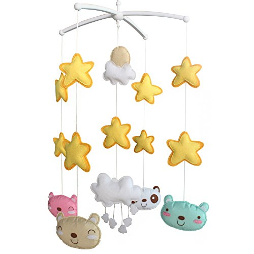 Juguetes colgantes creativos [Felicidad] Unisex bebé musical regalo cuna móvil