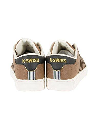 K-Swiss Hoke Cmf, Baskets Basses Homme Blanc (Mustang/ecru/black)