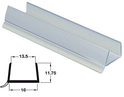 3 x 2M Lengths of Kitchen Plinth Sealing Strip for 15-16mm Panel Thickness Clear Plastic