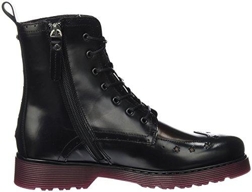 Tommy Hilfiger Damen L1285otta 3a Combat Boots Schwarz (Black)