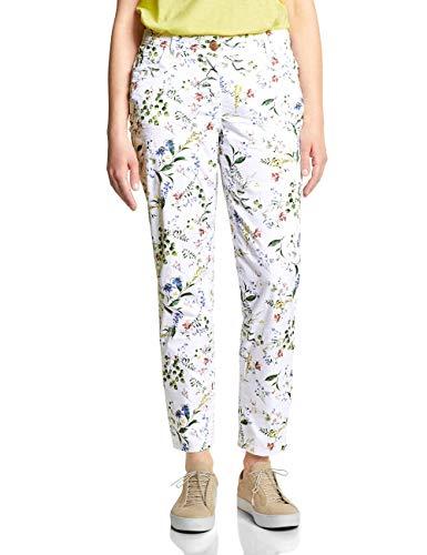 Cecil Damen 372112 New York Flower Hose, White, W33/L28(Herstellergröße:33) -