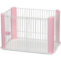 IRIS, Welpenauslauf / Freigehege / Laufstall / Welpengitter CLS-960, ohne Dach, Kunststoff, weiß / rosa, 92 x 63 x 60 cm