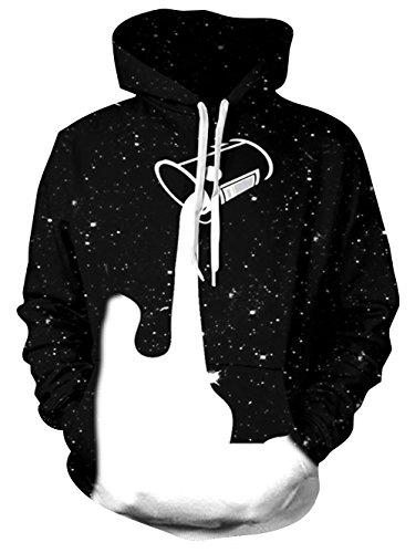 BFUSTYLE Unisex 3D bedruckte Kapuzenjacke Grafik Kapuzenpullover Milk sky Pullover Taschen (Sky-grafik-t-shirt)