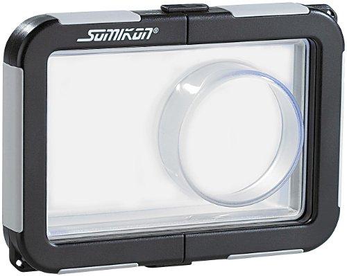 Somikon Kameratasche: Kamera-Tauchgehäuse mit Objektivführung (max. 99 x 64 x 25 mm) (Unterwasser Kameratasche)