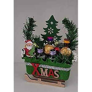 Weihnachtsgeschenk, Deko-Schlitten mit Pralinen und kleiner Klopfer Mix, Geschenk zum Advent, Weihnachten, Nikolaus