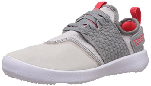 Reebok Women's Sole Identity Silver, Grey,White And Red Leather Trail Running Shoes – 7 UK 419METPm dL