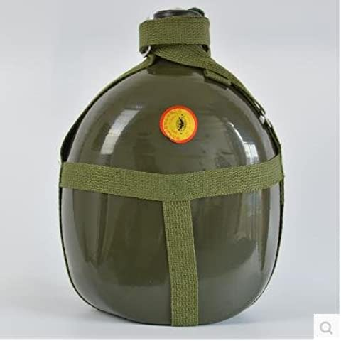 E & a/Gran Capacidad Botella de agua de aluminio al aire libre Viajes Senderismo Hervidor de agua hervidor de agua de estudiantes formación militar militares Entusiastas, 2.0l