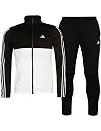 586cc874 adidas Mens 2 Pieces Jacket Bottoms 3S Basic Poly Tracksuit