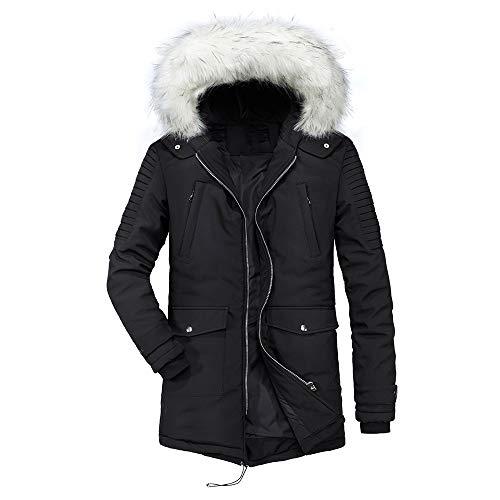 emp maentel Männer Winter Warme Kapuze Reißverschluss Mantel Baumwolle gefütterte Jacke