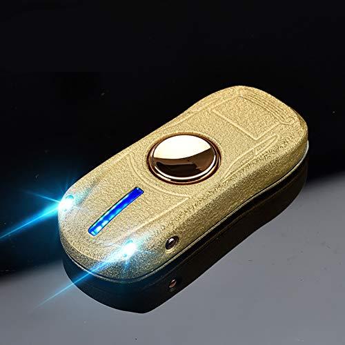 LKSIING Briquet Electrique Apparence de Voiture de Sport avec Flash Coloré LED Briquet USB avec Double Arc Electrique Briquet Rechargeable Inépuisable et Ecologique,B