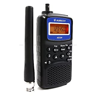 Albrecht ae-33h Radio-Receiver 180Kanäle, VHF, UHF, FM), Schwarz