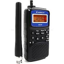 Albrecht AE-33H - Receptor de radio (180 canales, VHF, UHF, AM, FM), negro