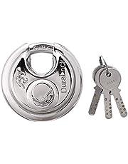 Godrej Locks 90 mm Disc Padlock (Standard Size, Silver)