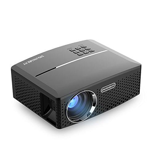 Vivibright GP-80 Led Projector 1800 Lumens 1080P Support HDMI, VGA, AV, USB - Black