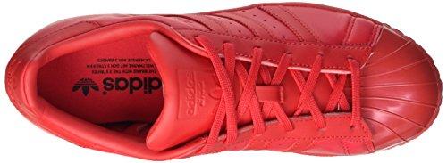 adidas Damen Superstar Glossy Basketballschuhe Rot (Rayred/Rayred/Cblack)