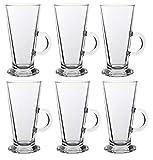 Ever Rich Taza de té café Latte de 240/300 ml (Adecuada para Tassimo y Dolce Gusto) Juego de 4 o 6 Vasos (300ML X 6 Glasses)
