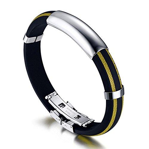 Bracciali in acciaio al titanio coppia movimento/ uomo di braccialetti in silicone/ Versione coreana di (Fiore Scatola Del Movimento)