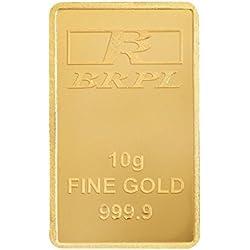 Bangalore Refinery 10 gm, 24k (999) Yellow Gold Bar