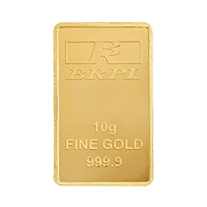 Bangalore Refinery 24k (999.9) 10 gm Yellow Gold Bar