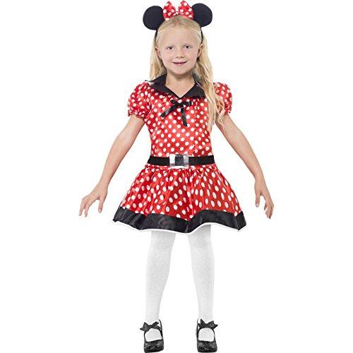 Smiffys Kinder Süße Maus Kostüm, Kleid, Gürtel und Haarreif, Größe: S, 26858 (Minnie Maus Kostüm Schuhe)