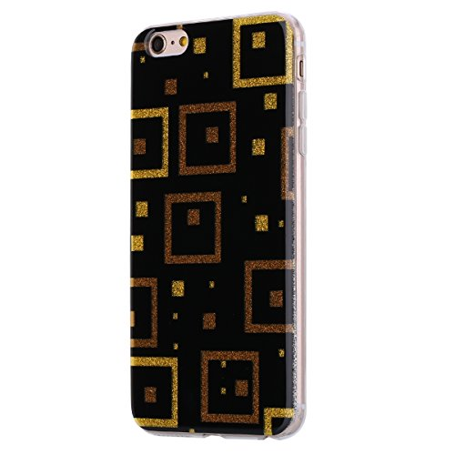Custodia iPhone 6, iPhone 6S Cover Sottile Silicone, SainCat Cover per iPhone 6/6S Custodia Silicone Morbido, Acrylic Back Cover Shock-Absorption Ultra Slim Silicone Case Ultra Sottile Morbida Gel Cov Piazza