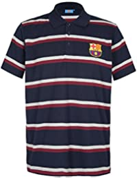 aa4453cd108 FC Barcelona Official Football Gift Mens Striped Polo Shirt
