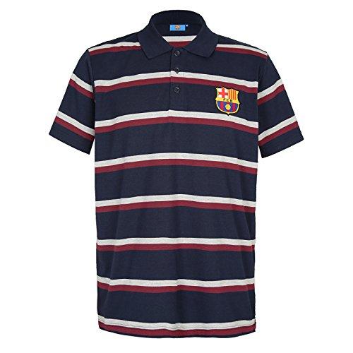 FC Barcelona - Polo Oficial Para Hombre - A Rayas - Azul Marino - XXL