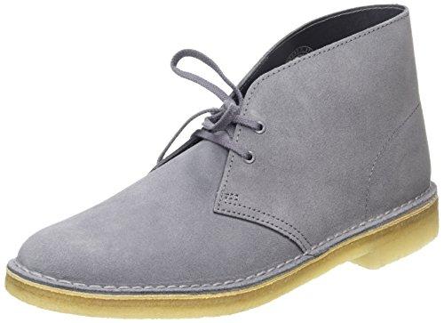 "Clarks Desert Boot, Derby homme (largeur: G ""standard"" ) Gris (Grey/Blue)"