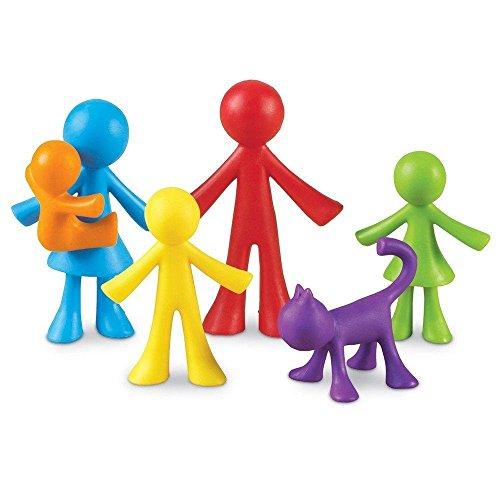 Learning Resources- Figuras de la Familia All About, Juego de 72, Color (LER3372)