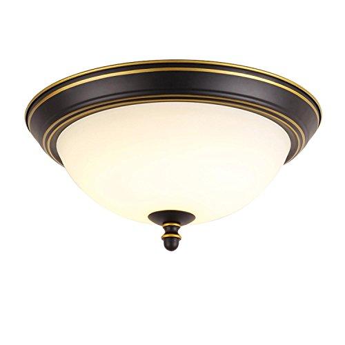 GRFH Neue klassische Schlafzimmer Runde LED Deckenleuchte Deckenleuchte Mattglas Lampe Abdeckung 26cm.33cm.38cm.50cm , 38cm