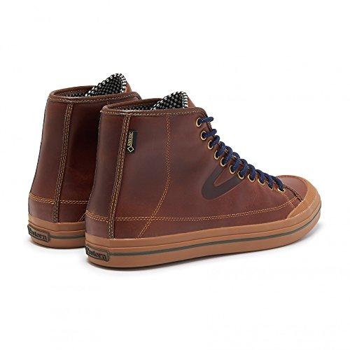 Tretorn skymra court GTX Leather-Brown-UK/EU/US M-Imperméable Gore-Tex Unisexe en cuir Baskets Marron - Marron