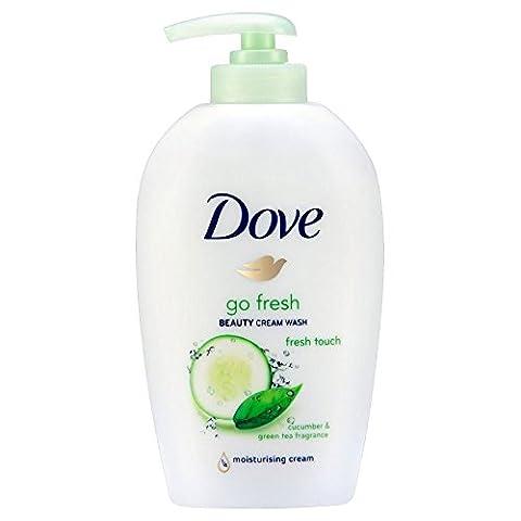 Dove Go Fresh Cream Beauty Wash - touche fraîche de concombre et thé vert (250ml) - Paquet de 6