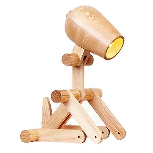 Kytwn Hund Kreative Holznachttischlampen Kommen In Vielen Formen, Verstellbare Hund Förmige Lampen Hotelzimmer -