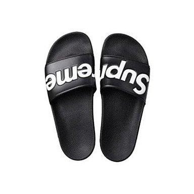Slippers & amp da uomo;Casual Primavera Estate Comfort PU, sandali bianchi sandali Black